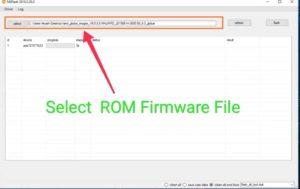 Select Firmware File in Mi Flash Tools